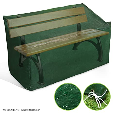 Admirable Livivo Heavy Duty 3 Seater Waterproof Outdoor Garden Bench Cover With Corner Eyelets And Securing Ropes Furniture Protection For Benches Up To 160Cm Pdpeps Interior Chair Design Pdpepsorg