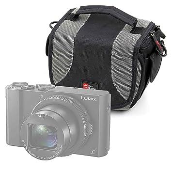 DURAGADGET Bolso Negro Y Gris para cámara Olympus OM-D E-M10 Mark ...