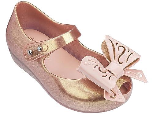 ee4729cdba65 Mini Melissa Ultragirl Fairy Bow - Rose Gold - 25 26-uk8-8.5  Amazon.co.uk   Shoes   Bags