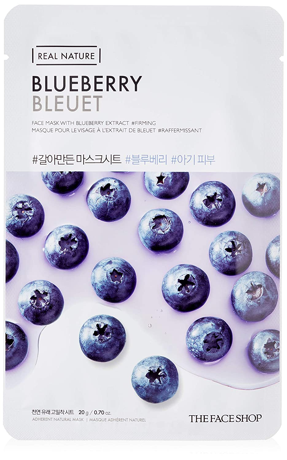 THE FACE SHOP Real Nature Mask Sheet Blueberry