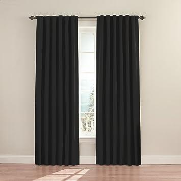 eclipse fresno por inch blackout ventana cortina negro