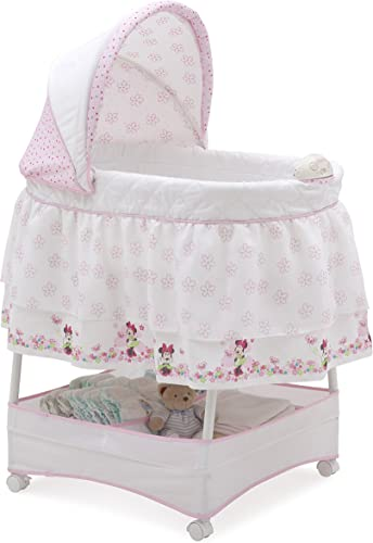 Delta Children Disney Minnie Mouse Gliding Bassinet