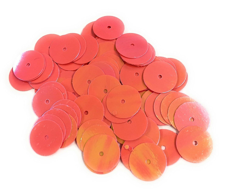 Paillettes Rosso 12 mm grande 100 grammi fai da te, colore platino Bastel Express PVC-Q014-12mm-15