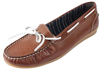 EXPORT SURPLUS Men's Brown Leather Boat Shoes - 10 UK: Buy Online at
