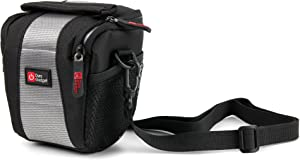 DURAGADGET Water-Resistant Black & Grey Cross-Body Carry Bag - Compatible with 4 Mega-Pixel Car Recorder & MAISI Full HD Color Car Black Box Dashboard Camcorder
