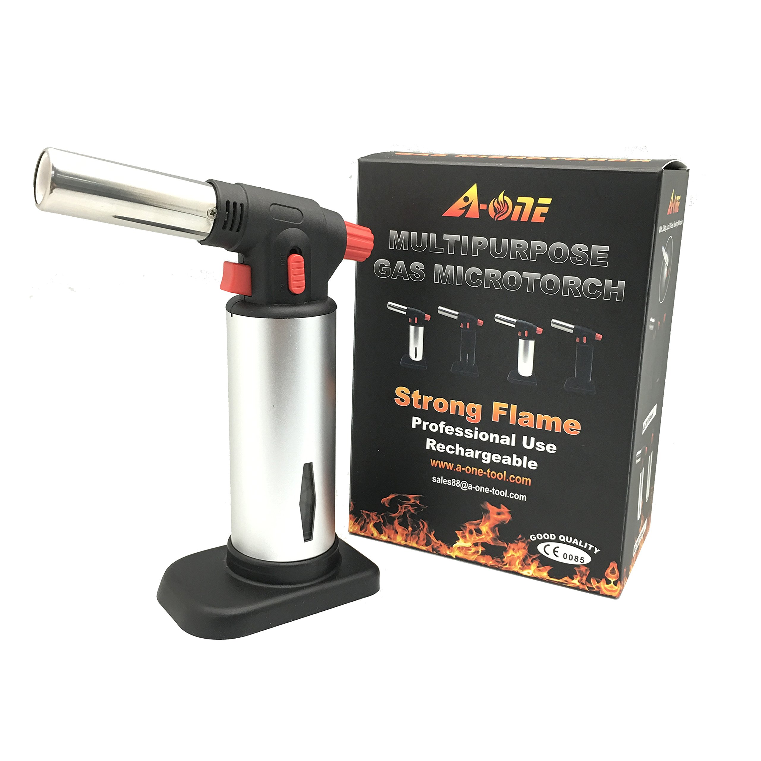 A-ONE Silver Kitchen Creme Brulee Blow Torch