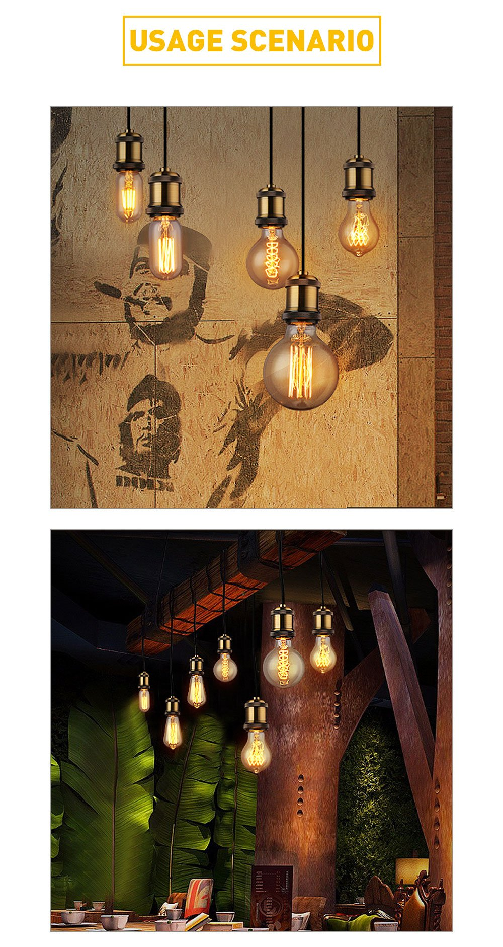 E26/E27 Vintage Edison Pendant Lamp Copper Holder,Solid Bronze Lamp Socket, Pendant Ceramics Light Socket Brass Finished Fixture Replacement, Industrial Vintage DIY Projects,UL Listed(4 Pack)
