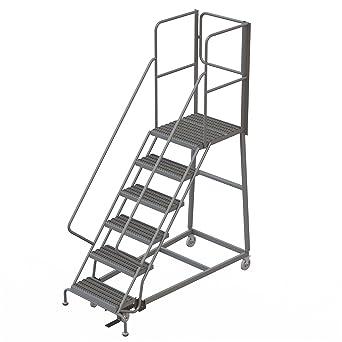Enjoyable Tri Arc Rwec106242 Xr 6 Step Gateway Rear Exit Gate Forward Descent Incline Ladder With 27 Deep Top Platform Grip Strut Tread With Handrails 24 Squirreltailoven Fun Painted Chair Ideas Images Squirreltailovenorg