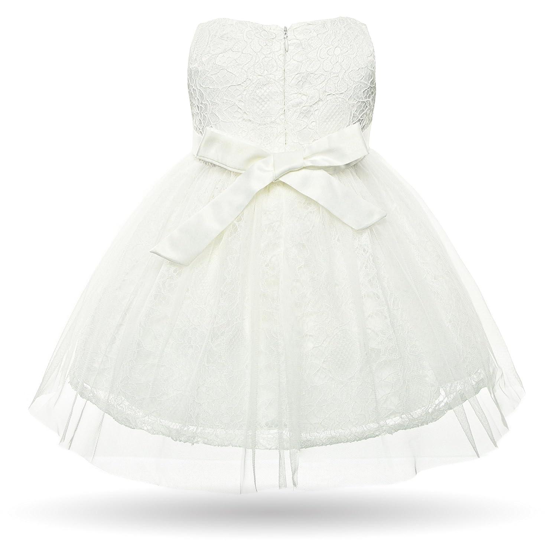 CIELARKO Vestito Battesimo Bambina Ragazze Eleganti Neonata Pizzo Fiore  Perla Cerimonia Abiti  Amazon.it  Abbigliamento 8f2398e66de