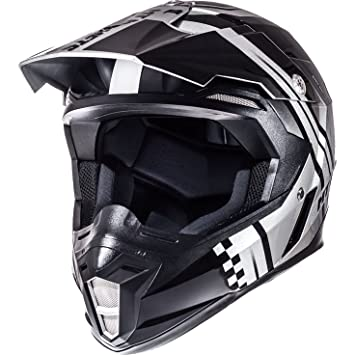 MT sincronía Endurance casco de Motocross, Anthracite Silver Black