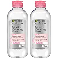 Garnier SkinActive Micellar Cleansing Water For All Skin Types, 13.5 Ounces (Pack of 2)