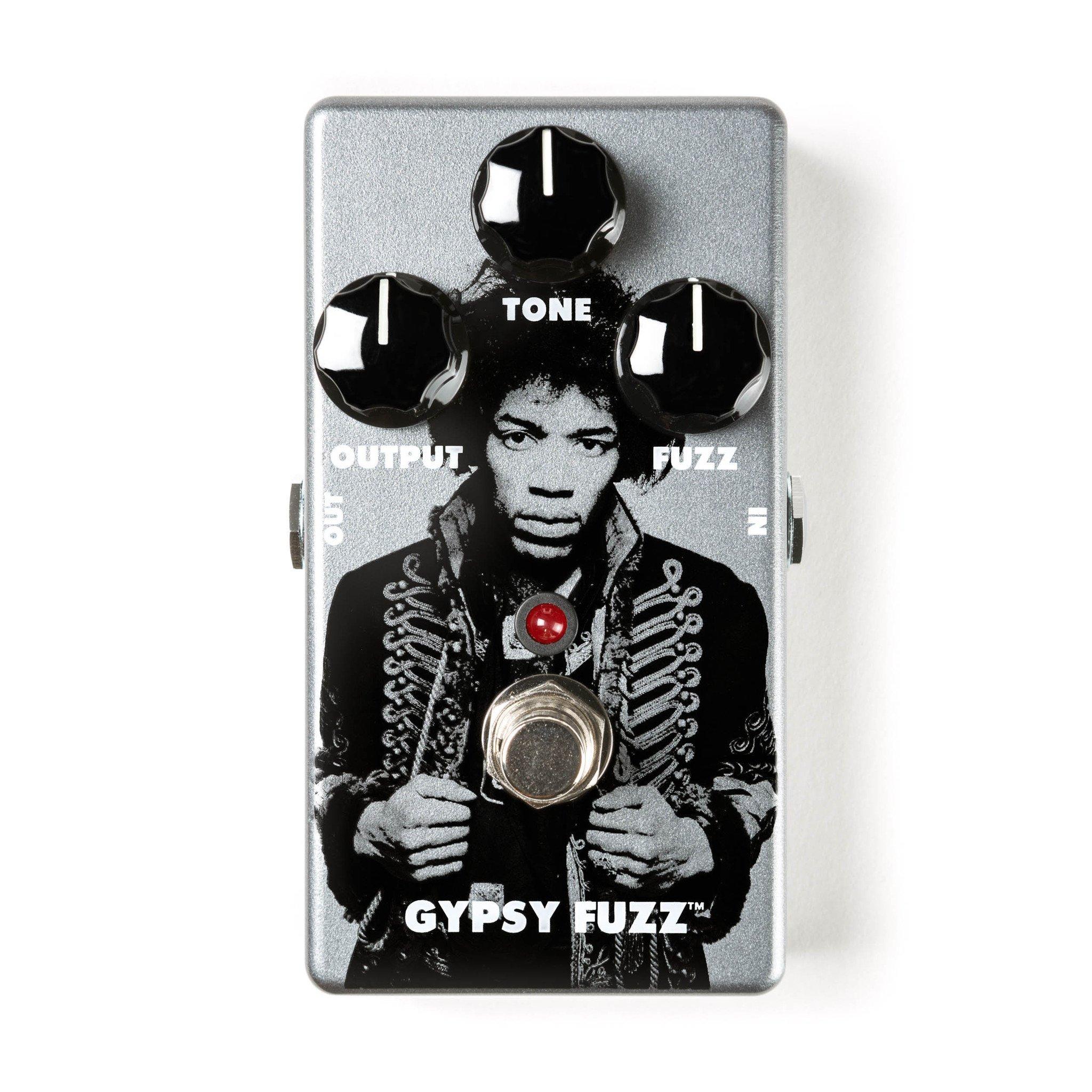 Dunlop JHM8 Jimi Hendrix Gypsy Fuzz Pedal w/Bonus Patch Cord & RIS Picks (x3) 710137099135 by Rock Island Sound