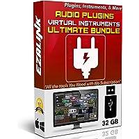 Audio Plugins Bundle for Software VST AU AAX Music Synth Delay Virtual Instruments Windows & MAC for FL Studio, Ableton Live, Pro Tools, Cubase etc. (32Gb USB)
