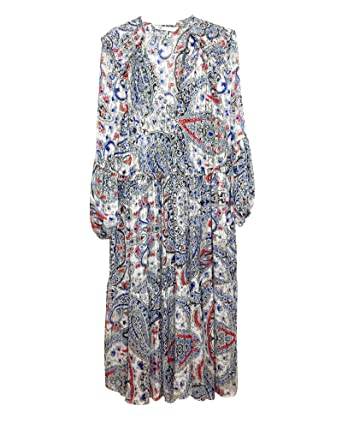 54fa904a Zara Women Printed Metallic Thread Dress 8351/021 (Medium) at Amazon ...