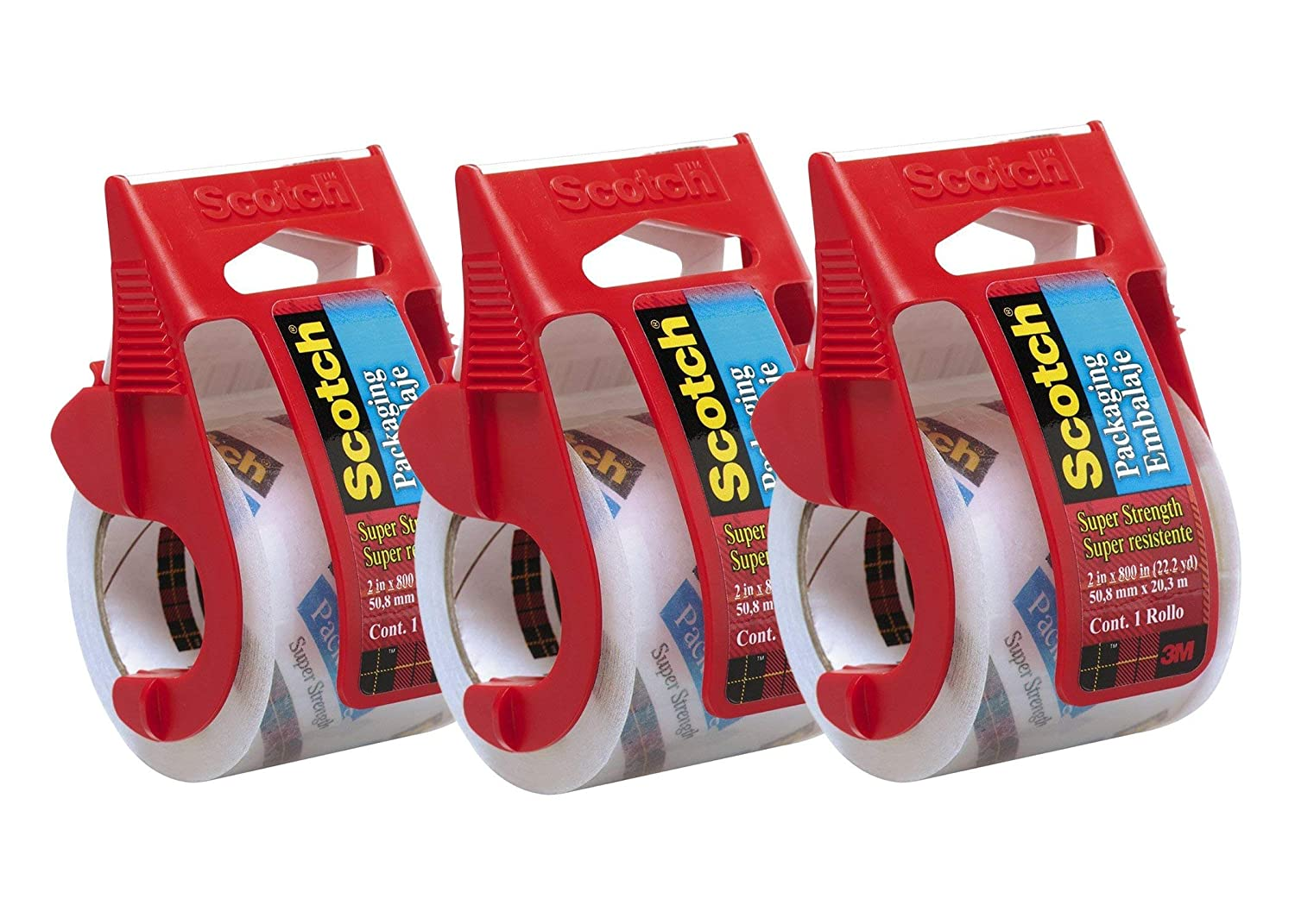 2 x 800 Clear Scotch Heavy Duty Shipping Packaging Tape