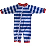 SwimZip Little Boy Long Sleeve Sunsuit With UPF 50 Sun Protection