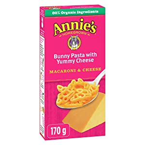 Annie's Bunny Shape Pasta & Yummy Cheese Macaroni and Cheese 6 oz (Pack of 12)