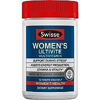 Swisse Premium Ultivite Daily Multivitamin for Women | Energy & Stress Support, Rich in Antioxidant & Minerals | Vitamin A, Vitamin C, Vitamin D, Biotin, Calcium, Zinc & More | 50 Tablets