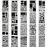 20 PCS Journal Stencil Plastic Planner Set for Journal Notebook Diary Scrapbook DIY Drawing Template Journal Stencils 4x7 Inc