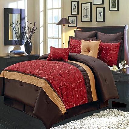 Amazon Atlantis Red Burg Gold And Chocolate King Size Luxury Fascinating Atlantis Bedroom Furniture Decor