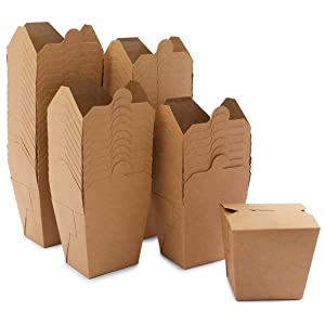 Take Out Boxes, Kraft Paper to-Go Food Containers (32 oz, 60 Pack)