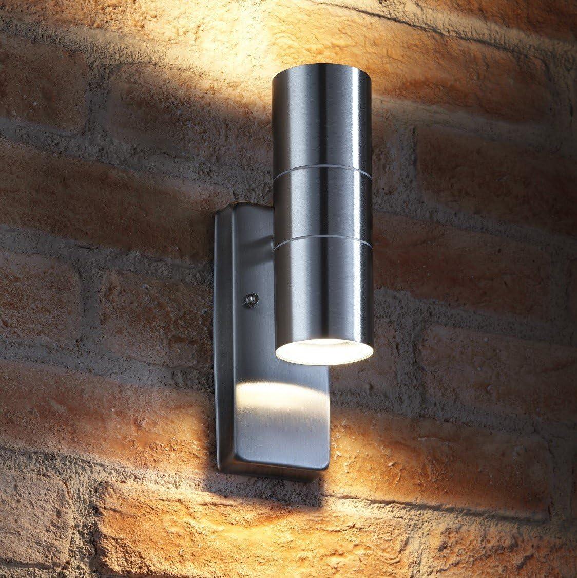 Acier Inoxydable Métal PIR Outdoor Wall Light