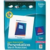 "Avery Super Heavyweight Diamond Clear Sheet Protectors, 8.5"" x 11"", Acid-Free, Easy Load, 50ct (74130)"