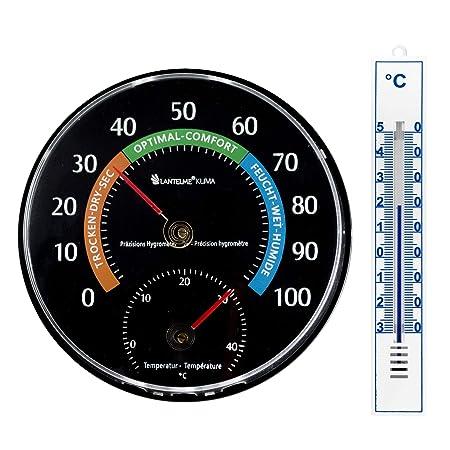 3 St Set Analog Innen Aussen Garten Thermometer Kunststoff weiß Innenthermometer