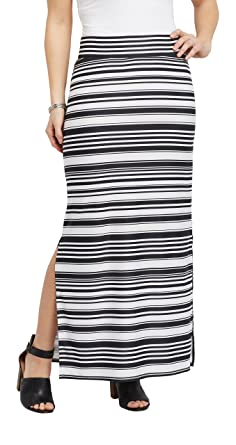 45baf70c0 maurices Women's Striped Side Slit Maxi Skirt at Amazon Women's ...