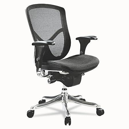 Alera ALEEQA42ME10A EQ Series Ergonomic Multifunction Mid-Back Mesh Chair, Aluminum Base