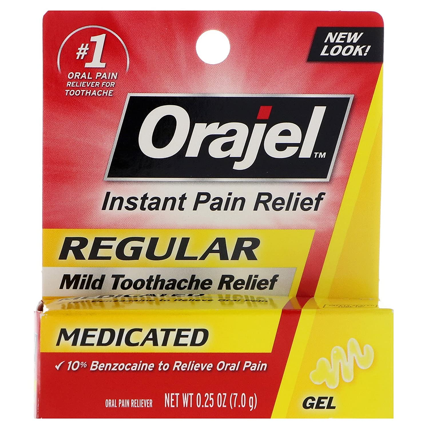 Orajel Regular Strength Toothache Pain Relief Gel, 0.25 oz CHURCH & DWIGHT CO INC