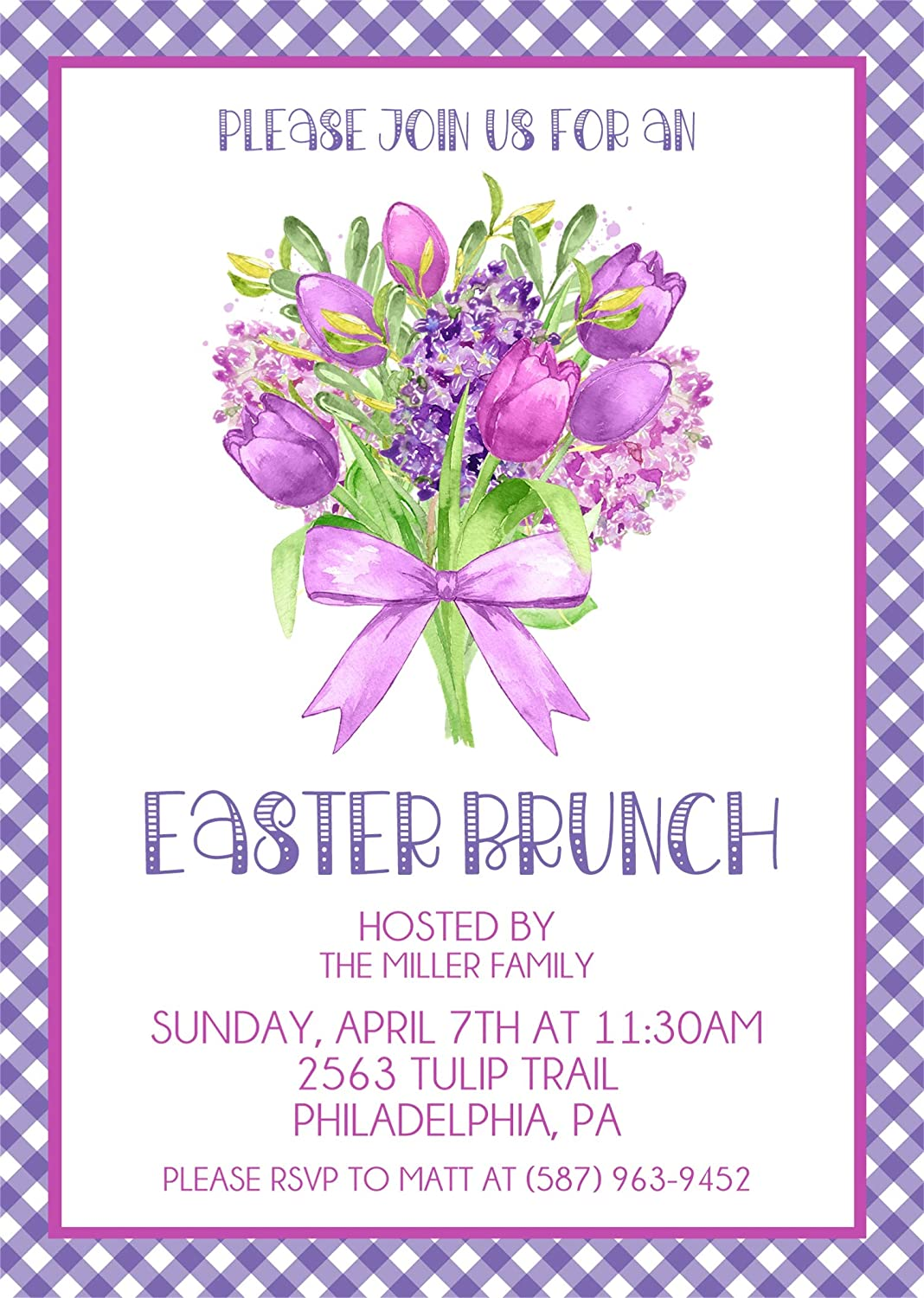 Amazon Personalized Easter Brunch Invitations Easter