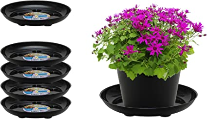 Julias Home Pack of 10 Huge 18 Inch Plant Saucers for Potted Plants Small Trees Indoor and Outdoor Planter Plates to Catch Excess Drainage Or Soil Spills