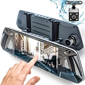 "Rear View Mirror Dash Cam 1080P - 7"" IPS Touch-Screen - Protect Your Comfort on a Road - by Dr.Smartec"