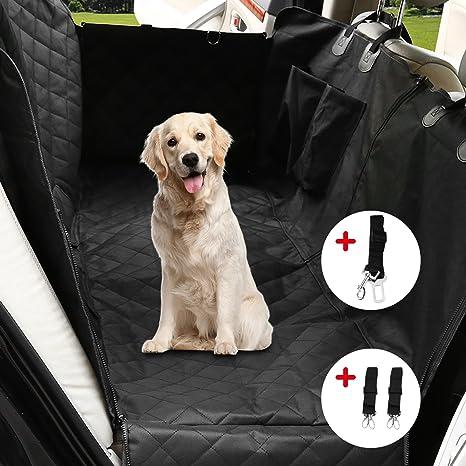 PETCUTE Cubierta Asiento de Coche Perro Cubre Asientos Coche para Perros Hamaca de Coche Protector Coche Perros
