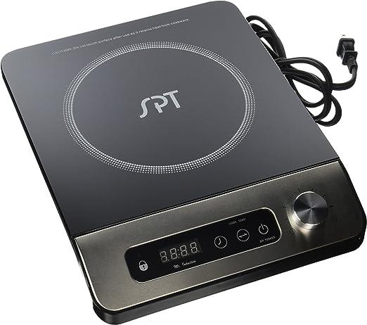 Amazon.com: SPT sr-1884ss 1650 W Induction Cooktop con botón ...