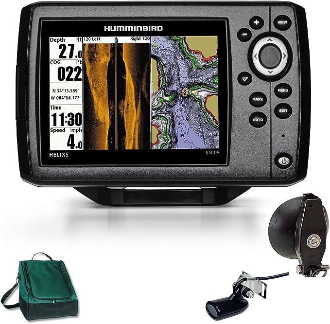 Humminbird Helix 5 x SI Side Imaging GPS Echolot Combo portátil Basic Plus: Amazon.es: Deportes y aire libre