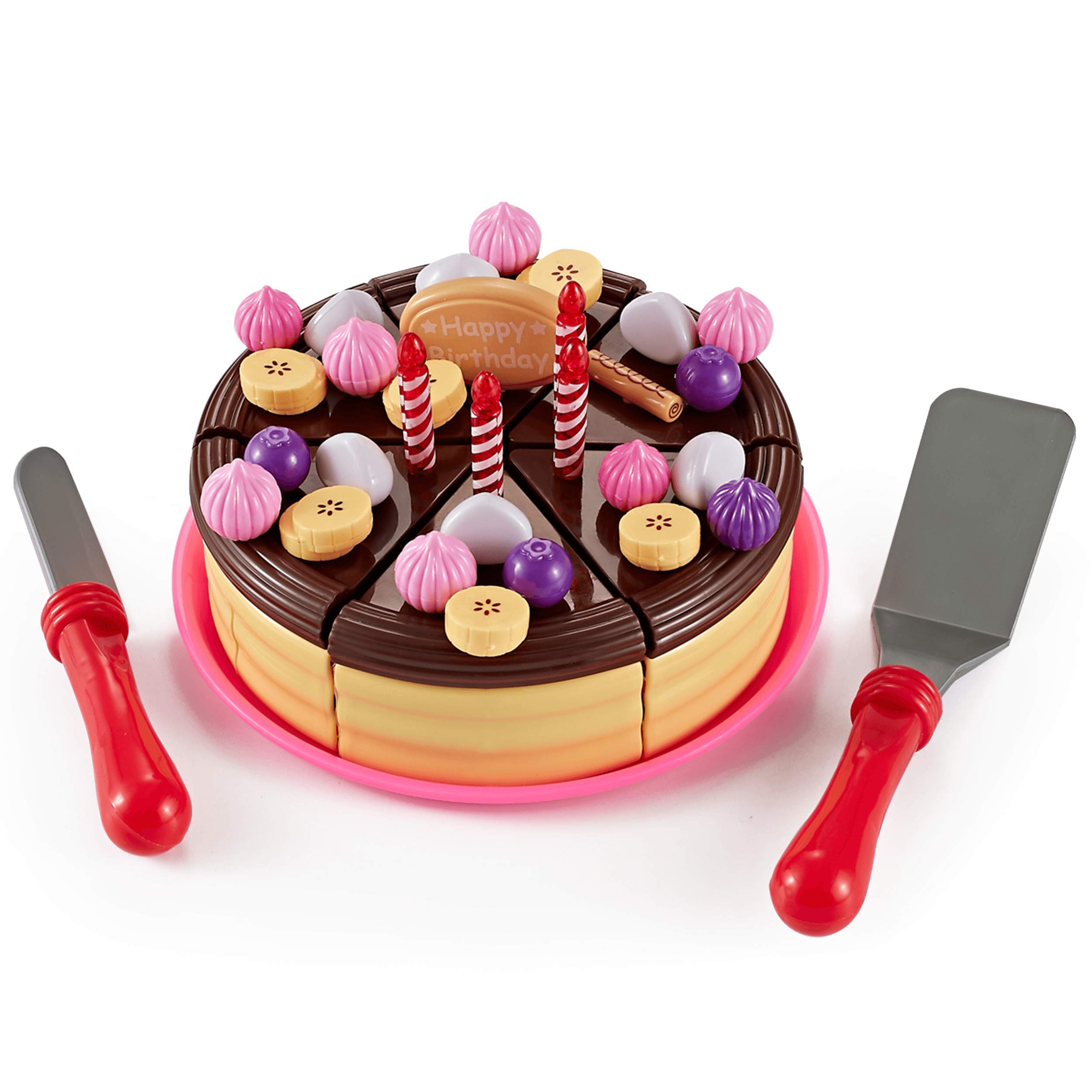 Think Gizmos Play Party Cake TG713 - Party Cake Play Set for Kids Aged 3 4 5 6 by Think Gizmos
