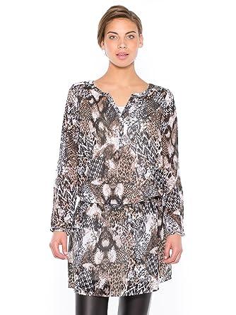 48 Voile Celaia En Robe Longues Imprime Manches CoWEBdexrQ