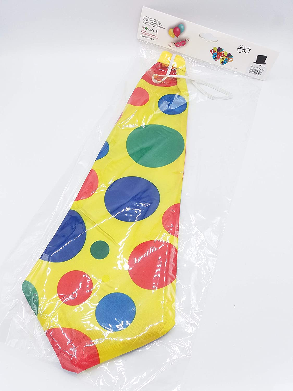 Dollar Store Corbata Grande de Payaso con Lunares de Colores, 47 x ...