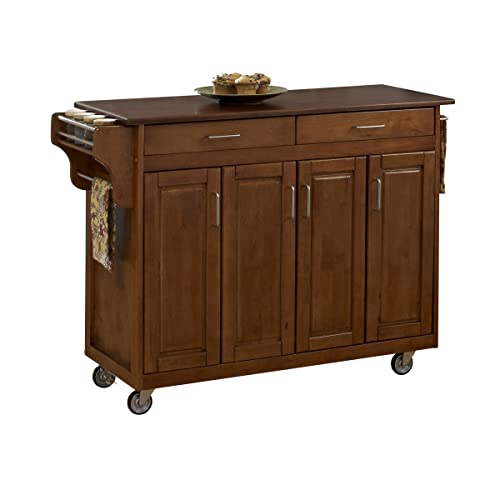 Create-a-Cart Warm Oak Finish