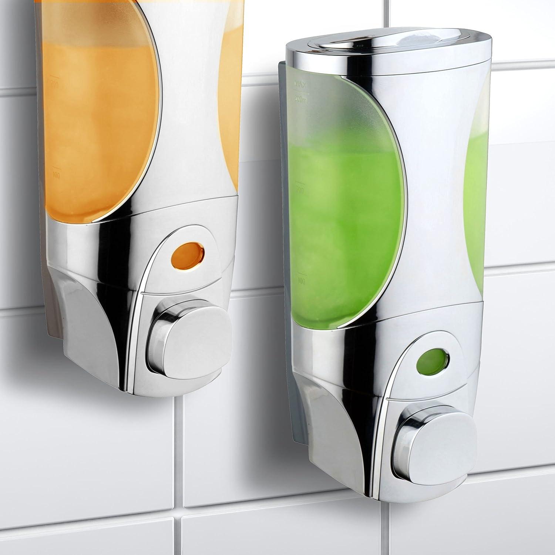 Dispensador de jabón y champú de lujo HotelSpa® Curves, diseño modular para ducha, 2 unidades: Amazon.es: Hogar