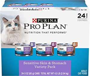 Purina Pro Plan Adult Wet Cat Food Variety Pack, (24) 3 oz. Cans