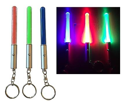 Juego de 3 espadas Luz Verde Azul Rojo Espada láser Luz ...