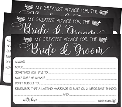 Advice and Well Wishes Cards for Wedding Day Wishing Well Cards for Guests to Fill Out at Wedding Reception Advice for the Newlyweds