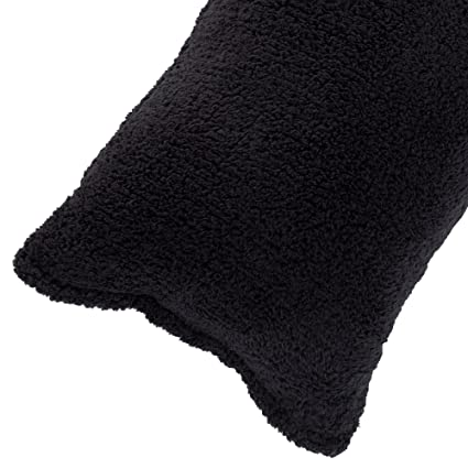 Sherpa Body Pillow Cover.Body Pillow Cover Sherpa With Side Zipper By Lavish Home 18 X52 Black
