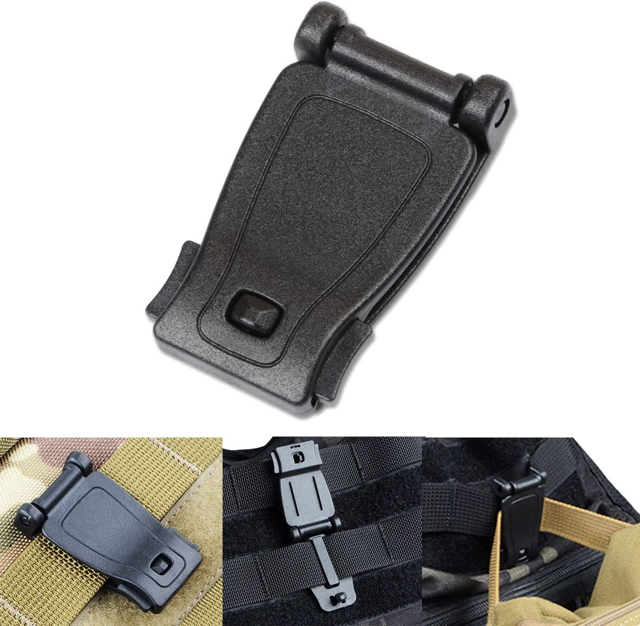 Backpack DYZD Multipurpose Molle Clip Molle Strap Attachments Tool Web Dominator Buckle for Tactical Bag