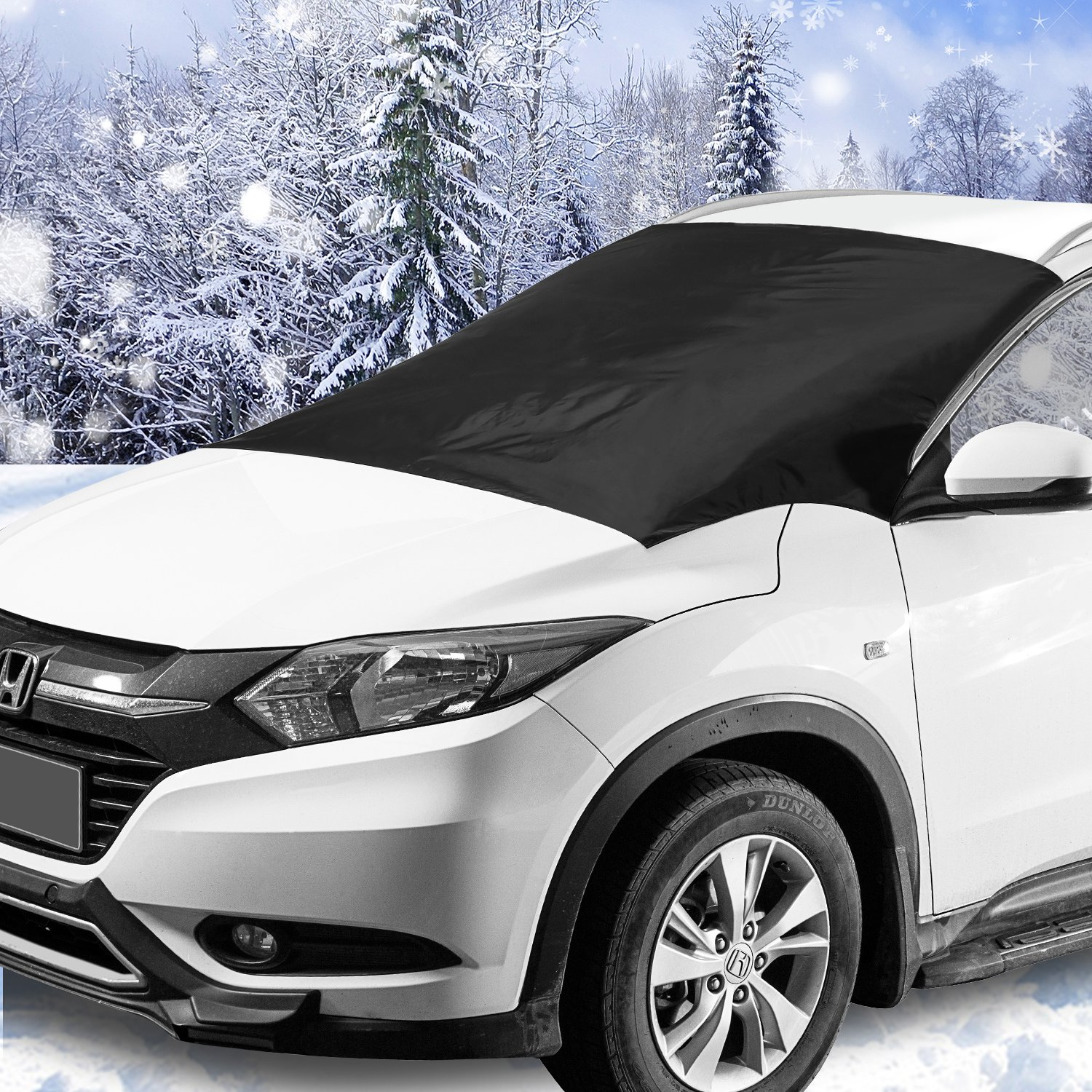 Windshield Snow & Ice Cover, Waterproof, sun protection For All Cars, Trucks, SUVs, MPVs, with Magnetic (47'' × 82'')
