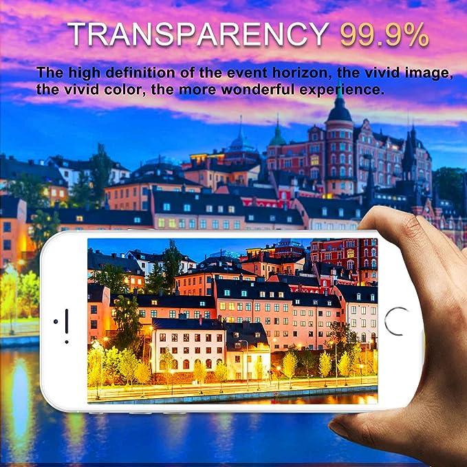 Aonsen iPhone 8/7/6/6S Protector de Pantalla, [2 Pack] Full Coverage Cristal Templado para Galaxy S7 Protector de Pantalla, [Alta Definicion], 9H Dureza, ...