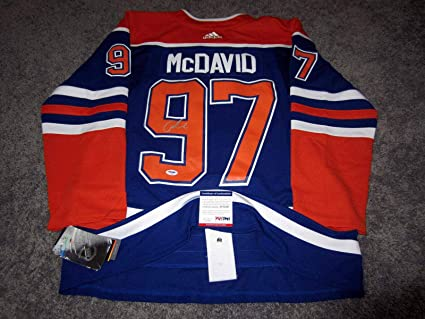 the latest c4bae 6ddbe Connor McDavid Autographed Jersey - Adidas Pro w COA New 50 ...